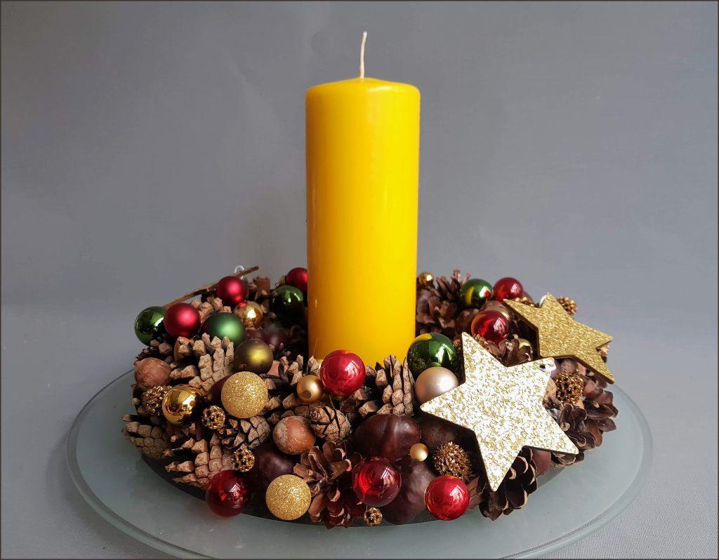 HORTUS-MAGICUS-Kalėdinė-stalo-dekoracija..Kalėdinis-vainikas--Christmas-Table-Decoration-