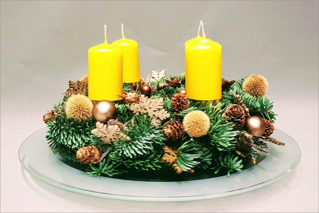 HORTUS-MAGICUS-Kalėdinė-dekoracija.Advento-vainikas..-Cristmas-wreath-decoration--