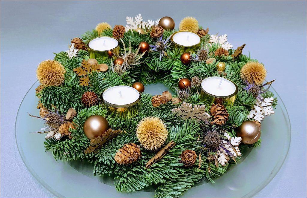 HORTUS-MAGICUS-Kalėdinė-dekoracija.Advento-vainikas..-Cristmas-wreath-decoration